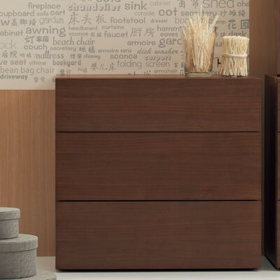 Bella 3 Drawer Standard Dresser