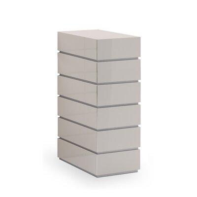 Potenza 6 Drawer Dresser Color: Beige