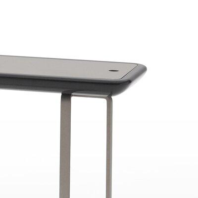 Alleno End Table Color: Glossy Dark Grey