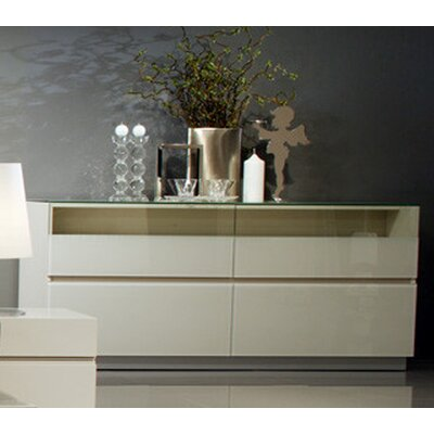 Vittoria 4 Drawer Dresser Color: Beige