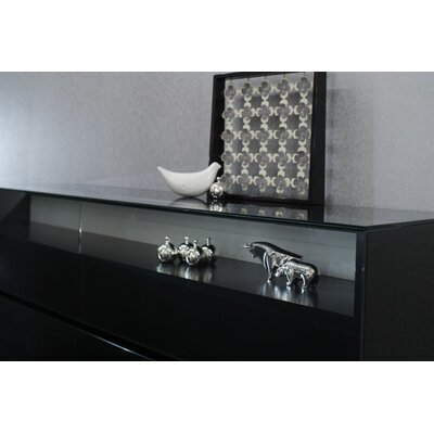 Vittoria 4 Drawer Dresser Color: Black