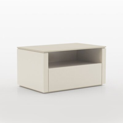 Innuo 1 Drawer Nightstand Color: Beige with Beige Top