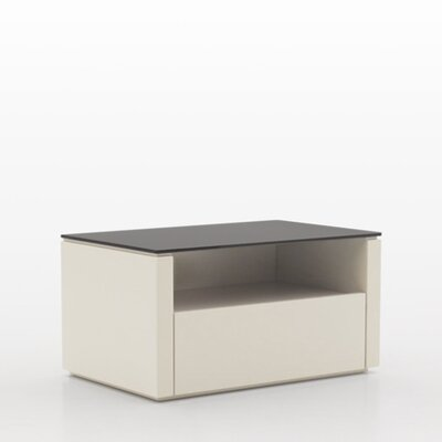 Innuo 1 Drawer Nightstand Color: Beige with Dark Top