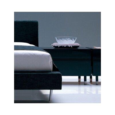 2 Drawer Nightstand Color: Glossy Dark Grey