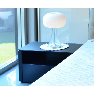 Innuo 1 Drawer Nightstand Color: Dark Grey
