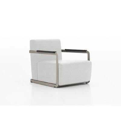 Glorenza Lounge Chair Upholstery: Crystal White