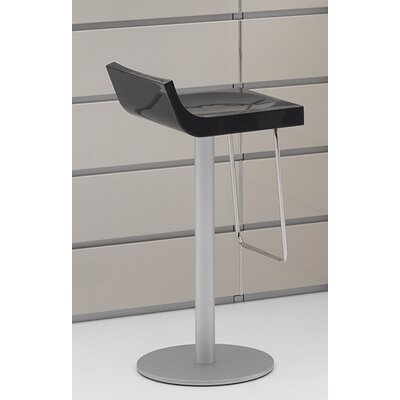Basi Bar Stool Upholstery: Glossy Dark Gray