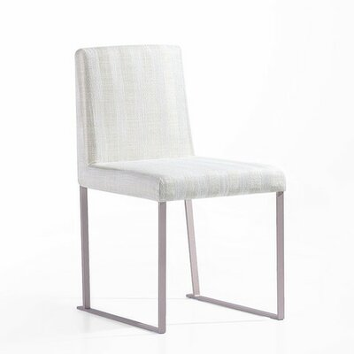 Lensua Side Chair Upholstery Fabric Beige Stripes