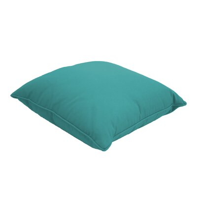 Everyday Single Piped Zippered Outdoor Throw Pillow Size: 22
