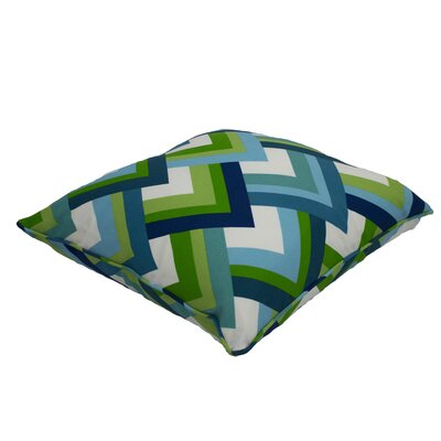 Everyday Single Piped Zippered Outdoor Throw Pillow Size: 18 H x 18 W
