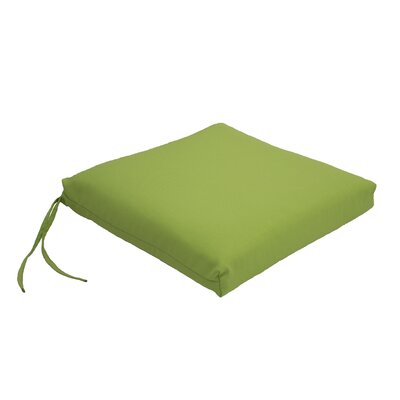 Everyday Knife Edge Outdoor Dining Chair Cushion Fabric: Apple Green, Size: 23.5 W x 19 D