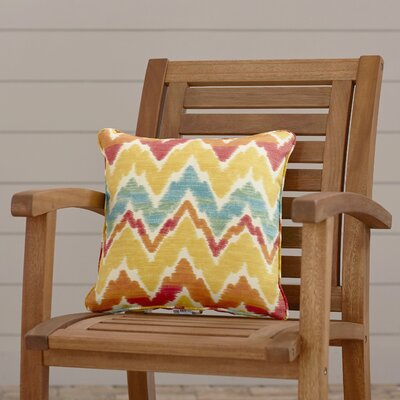 Everyday Single Piped Zippered Outdoor Throw Pillow Size: 16 H x 16 W