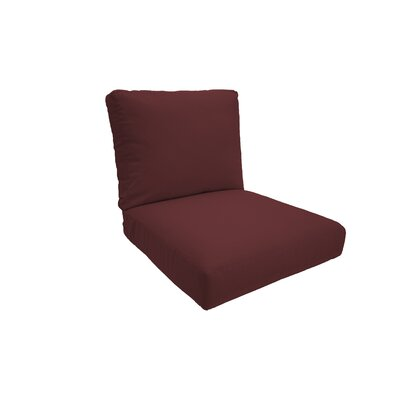Everyday Outdoor Lounge Chair Cushion Fabric: Lipstick, Size: Medium