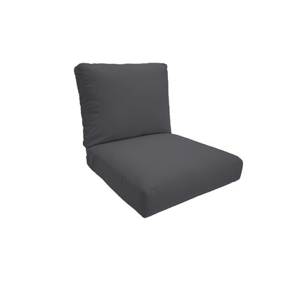 Everyday Outdoor Lounge Chair Cushion Fabric: Charcoal, Size: Medium