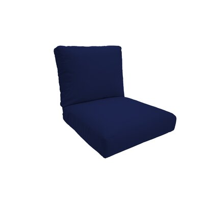 Everyday Outdoor Lounge Chair Cushion Fabric: Navy, Size: Medium