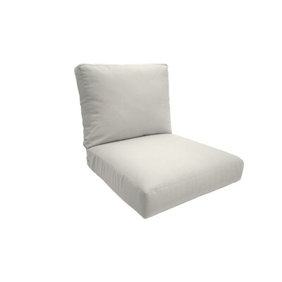 Everyday Outdoor Lounge Chair Cushion Size: Small, Fabric: Natural