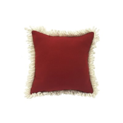 Holiday Pillow with Santa Beard Trim