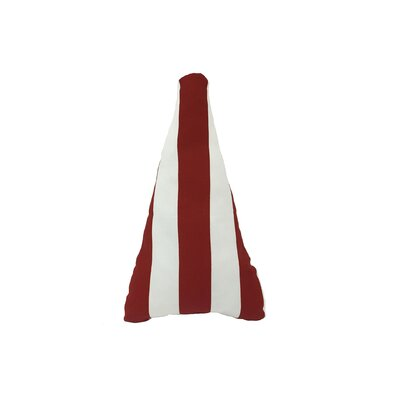 Holiday Stripe Tree Pillow Color: Red/White