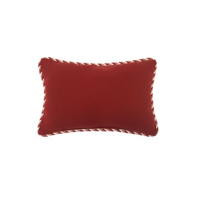 Holiday Lumbar Pillow with Candy Cane Trim