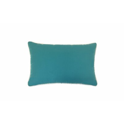 Piped Zip Outdoor Sunbrella Lumbar Pillow Color: Aruba
