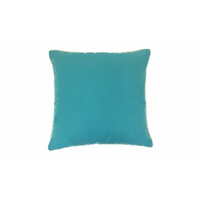 Piped Zip Outdoor Sunbrella Throw Pillow Size: 18 H x 18 W, Color: Aruba