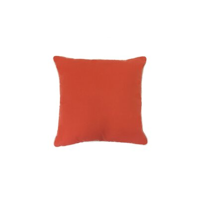 Piped Zip Outdoor Sunbrella Throw Pillow Size: 20