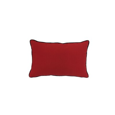 Piped Zip Outdoor Sunbrella Lumbar Pillow Color: Jockey Red