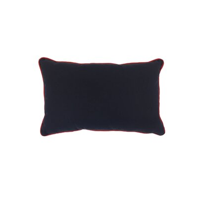 Piped Zip Outdoor Sunbrella Lumbar Pillow Color: Canvas Navy