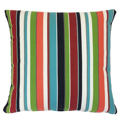 Zip Outdoor Sunbrella Throw Pillow Size: 18 H x 18 W