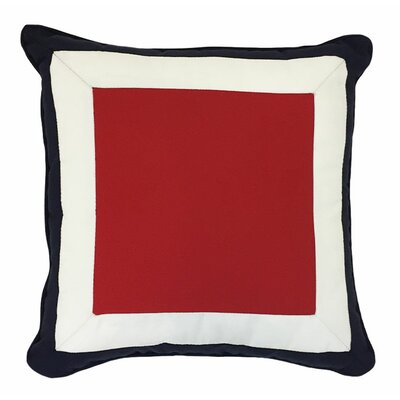 Tri Color Block Outdoor Sunbrella Throw Pillow Size: 18 H x 18 W