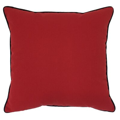 Piped Zip Outdoor Sunbrella Throw Pillow Size: 20 H x 20 W, Color: Jockey Red
