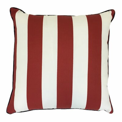 Piiped Zip Outdoor Throw Pillow Size: 18 H x 18 W, Color: Finnigan Cherry