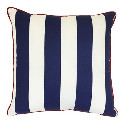 Piiped Zip Outdoor Throw Pillow Size: 20 H x 20 W, Color: Finnigan Indigo