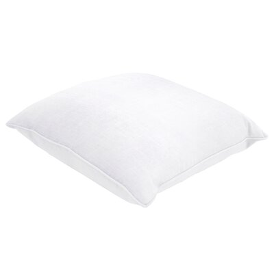 Maureen Linen Throw Pillow Size: 22 H x 22 W x 5 D, Color: Slub White