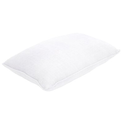 Maxence Linen Lumbar Pillow Size: 13 H x 21 W x 5 D, Color: Slub White