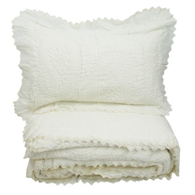 Coastal Mediterranean Eyelet Decorative Sham