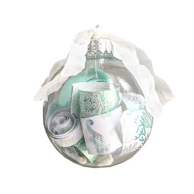 Hanging Coastal Glass Ball Ornament HLDS8535 44024906
