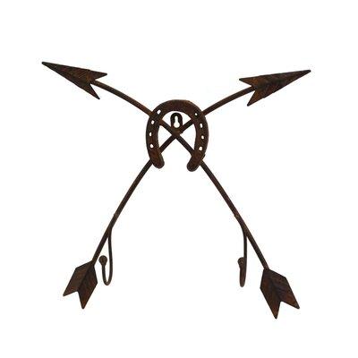 Decorative Double Arrow with Horseshoe Rack 760023