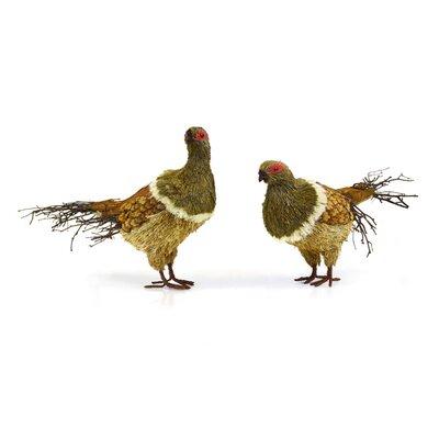 2 Piece Natural Looking Pheasants Figurine