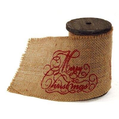 Christmas Burlap Ribbon