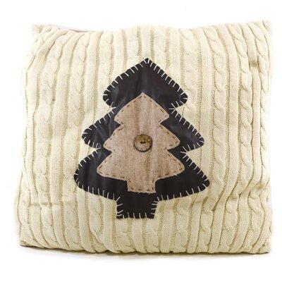 Christmas Tree Knit Throw Pillow