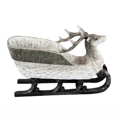 Christmas Sleigh with Deer Head Figurine THLY3565 44745834