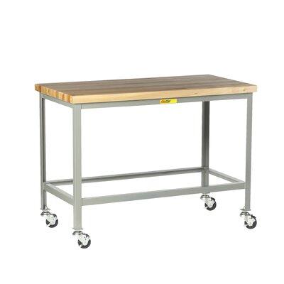 "Mobile Butcher Block Top Workbench Size: 35"" H x 48"" W x 30"" D WT-3048-3R"