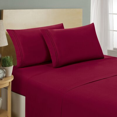 1500 Series Collection Premium 4 Piece Bed Sheet Set
