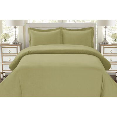 Galatee 3 Piece Duvet Set Size: Full / Queen, Color: Sage