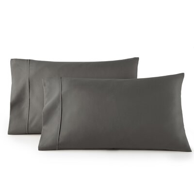 Pelham 1500 Thread Count Pillow Case Size: King, Color: Gray