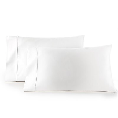 Pelham 1500 Thread Count Pillow Case Size: Standard, Color: White