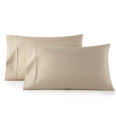 Pelham 1500 Thread Count Pillow Case Size: Standard, Color: Taupe