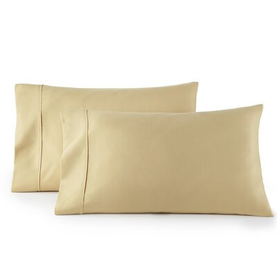 Pelham 1500 Thread Count Pillow Case Size: Standard, Color: Camel