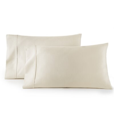 Pelham 1500 Thread Count Pillow Case Size: Standard, Color: Cream